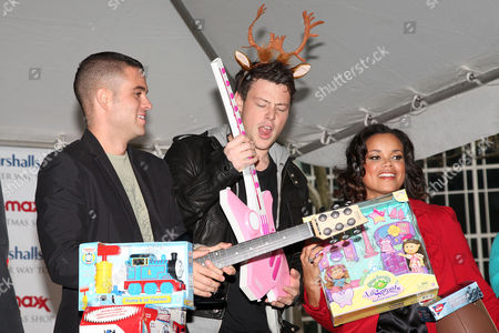 Mark Salling, Cory Monteith and Kimberly Locke