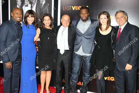 """Romany Malco, Mary Steenburgen, Amy Baer, Laurence Mark, Curtis """" 50 Cent """" Jackson, Guest and Leslie Moonves"""