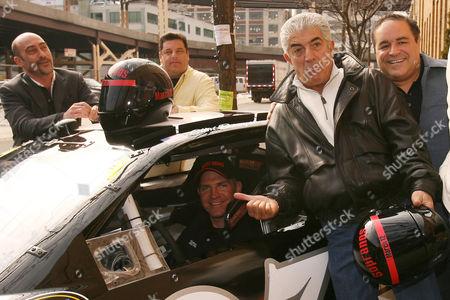 John Ventimiglia, Steve Schirripa, Clint Bowyer, Frank Vincent and Joe Gannascoli