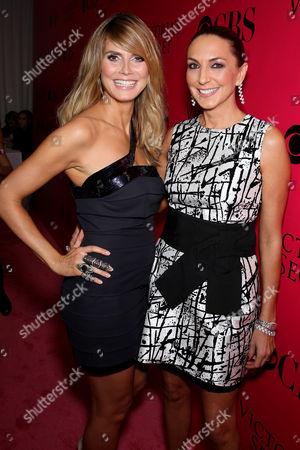 Heidi Klum and Monica Mitro (Executive Producer Victoria's Secret)