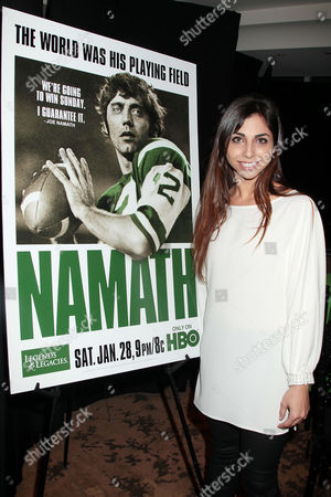 Editorial picture of 'Namath' film premiere, New York, America - 25 Jan 2012