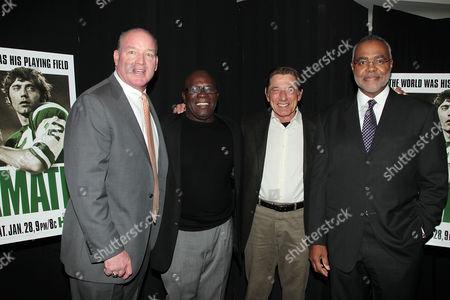 Marty Lyons, Emerson Boozer, Joe Namath and Richard Castor