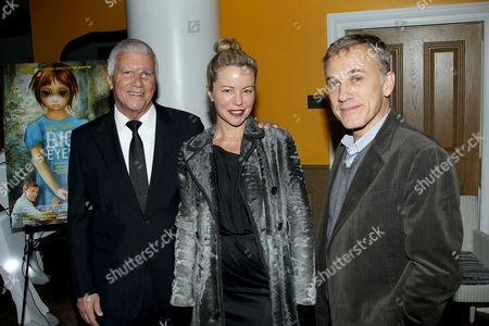 Larry Gagosian, Chrissie Erpf, Christoph Waltz
