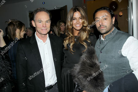 Stock Image of Stellan Holm, Kelly Bensimon, Vikram Chatwal