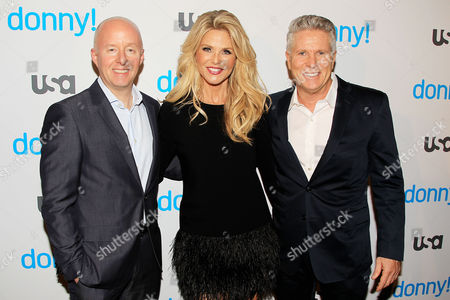 Stock Photo of Chris McCumber, Christie Brinkley and Donny Deutsch