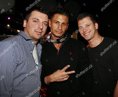 Chris Manzo, Paul DelVecchio (DJ Pauly D) and Albie Manzo