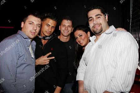 Chris Manzo, Paul DelVecchio (DJ Pauly D), Albie Manzo, Lauren Manz