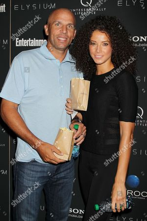 Stock Photo of Jason Kidd and Porschla Coleman