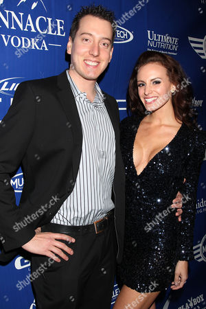 Kyle Busch and Samantha Busch