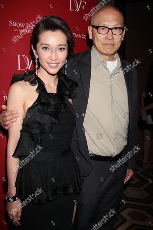 Li Bingbing and Wayne Wang