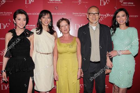 Li Bingbing, Florence Sloan, Claudia Lewis, Wayne Wang and Wendi Deng Murdoch