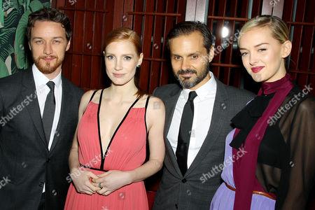James McAvoy, Jessica Chastain, Ned Benson (Director), Jess Weixler