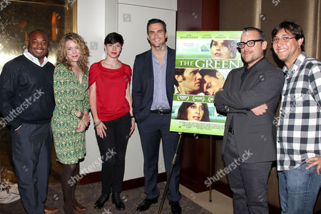 Damian Benders, Molly Pearson, Camille Bertrand and Cheyenne Jackson and Steve Beckmen