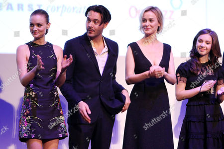 Bella Heathcote, Jack Huston, Dominique McElligott and Meg Guzulesc