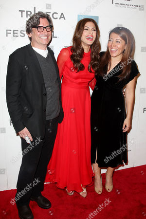 Griffin Dunne, Eva Mendes and Massy Tadjedin (Director)