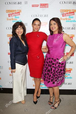 Donna Kalajian Lagani, Michelle Rodriguez and Michelle Herrera Mulligan