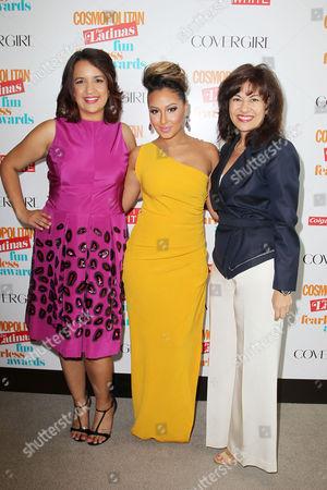 Michelle Herrera Mulligan, Adrienne Bailon and Donna Kalajian Lagani