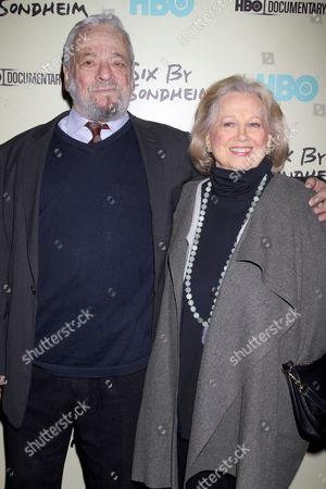 Stephen Sondheim and Barbara Cook