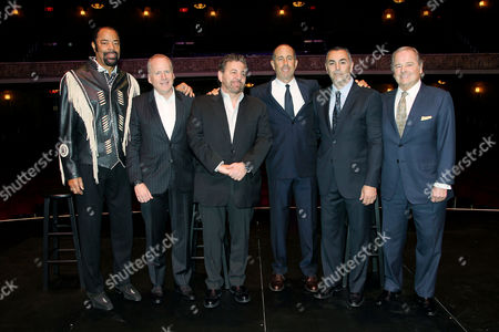 Walt Frazier, David O'Connor, James L. Dolan, Jerry Seinfeld, John Franco, Rod Gilbert