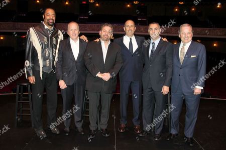 Stock Image of Walt Frazier, David O'Connor, James L. Dolan, Jerry Seinfeld, John Franco, Rod Gilbert
