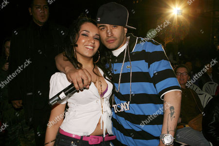 Stock Image of Lumidee and DJ Tony Touch