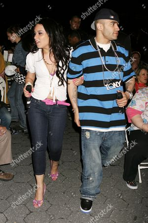 Stock Picture of Lumidee and d DJ Tony Touch
