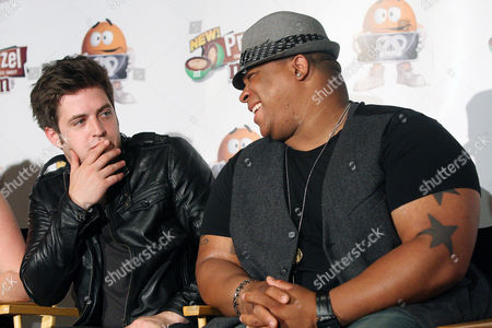 Stock Picture of Lee DeWyze (Winner of American Idol Season 9) and Michael Lynche