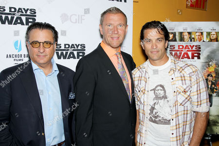 Stock Photo of Andy Garcia and, Renny Harlin and Jonathan Schaech