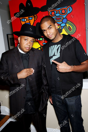 Stock Image of Reverend Run and FUSE VJ, Jared Cotter