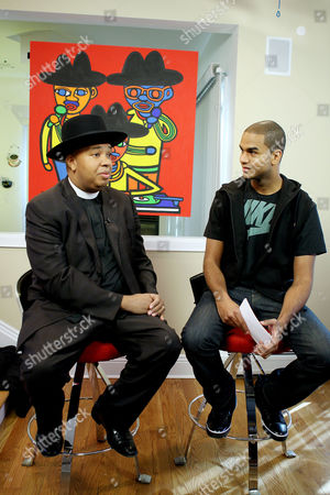 Stock Picture of Reverend Run and FUSE VJ, Jared Cotter
