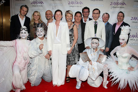 Line Tremblay (Zarkana, Director of Creation) and others
