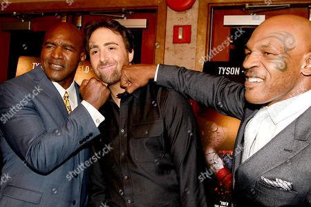 Evander Holyfield, Bert Marcus and Mike Tyson