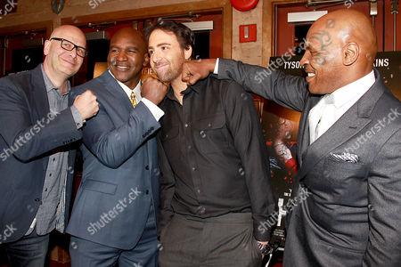 Lou DiBella, Evander Holyfield, Bert Marcus and Mike Tyson