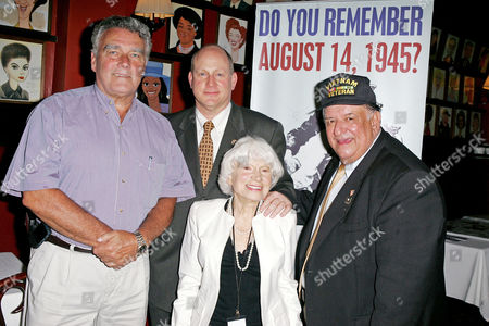 Vince McGowan (Pres. of NYC Veterans' Day Parade), Mark Jaffe (President/CEO of Greater New York Chamber of Commerce) and Edith Shain