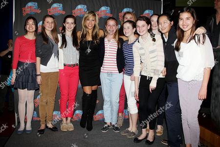 Lilian Garcia with fans