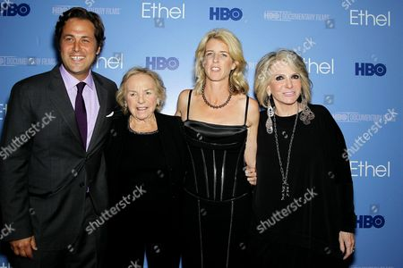 Mark Bailey (Writer), Ethel Shakel Kennedy, Rory Kennedy (Director,Producer) and Sheila Nevins (Pres. HBO Doc.)