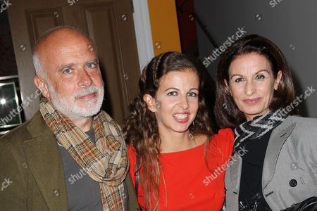Stock Photo of Chiara Clemente with parents Francesco and Alba Clemente