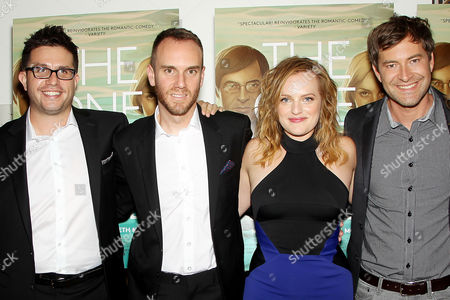 Stock Picture of Justin Lader, Charlie McDowell (Director), Elisabeth Moss, Mark Duplass