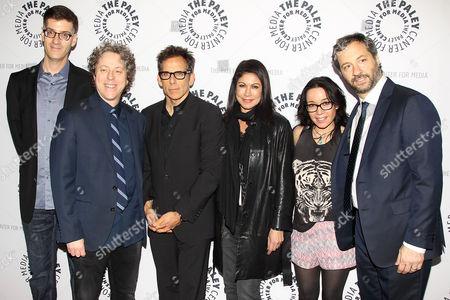 Stock Image of Rob Cohen, Jeff Kahn, Ben Stiller, Caroline Hirsch, Janeane Garofalo