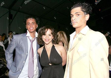 Carmine Gotti, Rosie Perez and Frankie Gotti