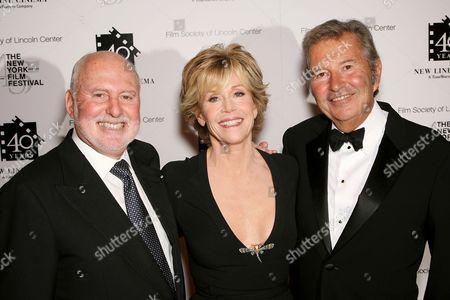 Michael Lynne, Jane Fonda, Bob Shaye