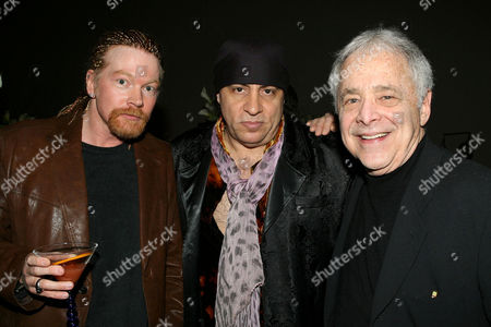 Stock Image of Axl Rose, 'Little' Steve Van Zandt and Chuck Barris