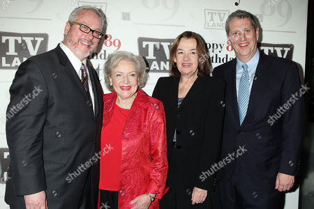 Larry Jones, Betty White, Judy McGrath and Doug Herzog