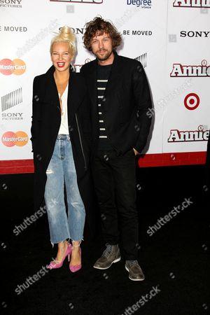 Sia Furler and Erik Anders Lang (husband)
