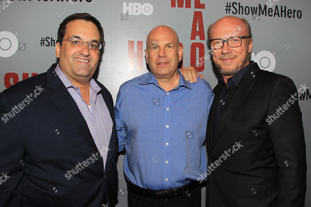 Kary Antholis, David Simon and Paul Haggis