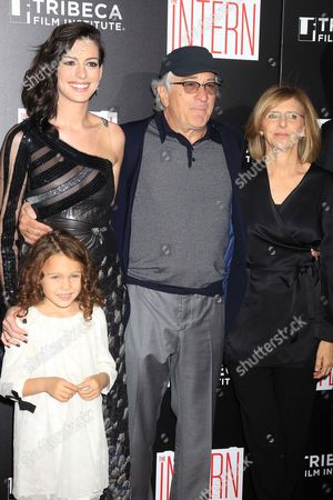JoJo Kushner, Anne Hathaway, Robert De Niro and Nancy Meyers