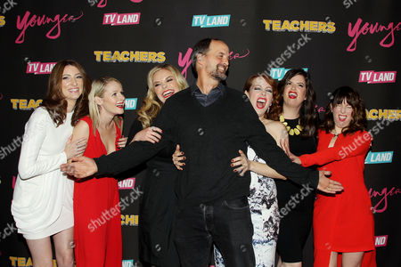 Stock Image of Katy Colloton, Kate Lambert, Katie Obrien, Jay Martel (Exec. Producer), Kathryn Renee Thomas, Cate Freedman, Caitlin Barlow (Cast of Teachers)