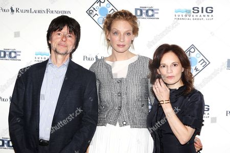 Ken Burns, Uma Thurman, Julie Burns (founder, Room to Grow)