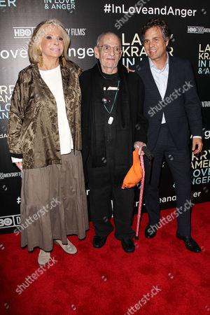 Sheila Nevins (Pres., HBO Documentary Films & Family), Larry Kramer and Mark Ruffalo