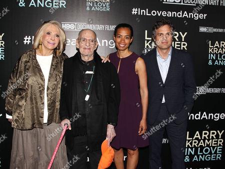 Sheila Nevins (Pres., HBO Documentary Films & Family), Larry Kramer, Jacqueline Glover and Mark Ruffalo